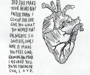 love, daughter, and Lyrics image