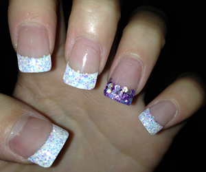 acrylics, pretty, and purple image