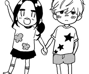 manga, hirunaka no ryuusei, and couple image