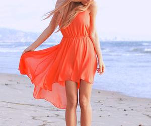 beach, orange, and water image
