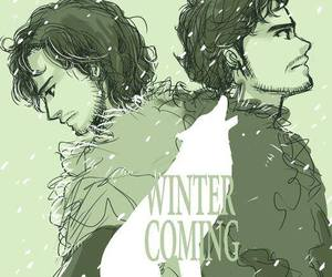 art, winter is coming, and robb stark image