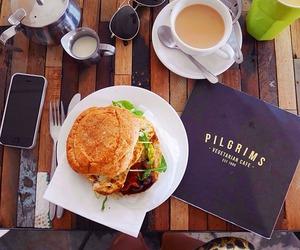 food, coffee, and burger image