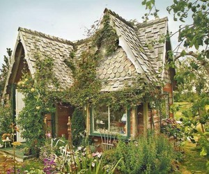 garden, house, and cottage image