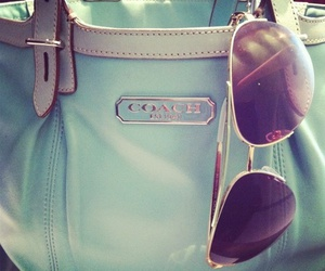 coach, sunglasses, and bag image