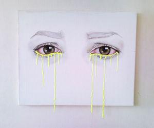 art, eyes, and white image
