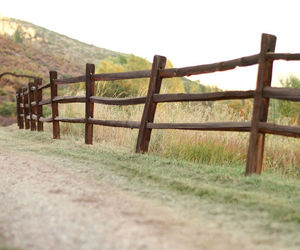 country, fence, and road image