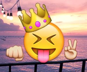 crown, peace, and emoji image