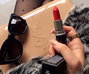 fashion, mac, and lipstick image