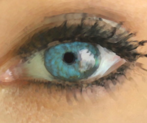 blue, blue eye, and drawing image