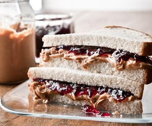 food, sandwich, and jelly image