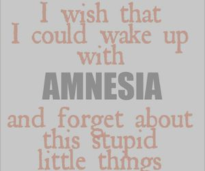 lyric, song, and amnesia image