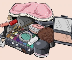 cosmetics, make up, and makeup image