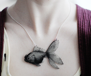 fish, necklace, and cool image