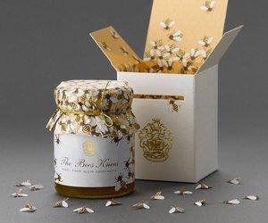 honey, bee, and design image