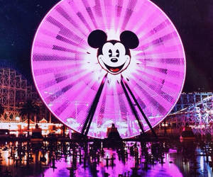 california, disneyland, and ferris wheel image
