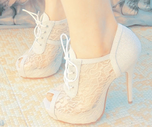shoes, heels, and white image