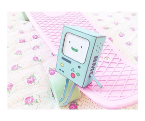 bmo, pastel, and adventure time image