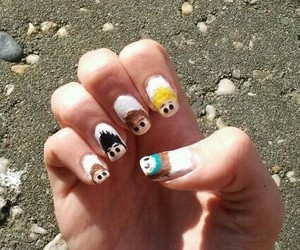 nail art, nails, and 1d image