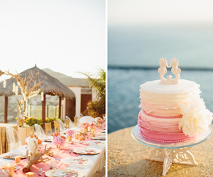 cake, pink, and reception image