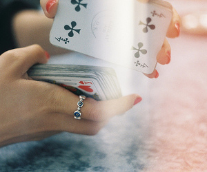 cards, ring, and vintage image
