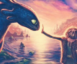 dragon, hiccup, and how to train your dragon image
