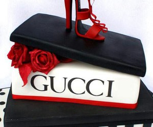 cake, shoes, and gucci image