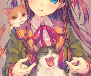 anime, cat, and kawaii image