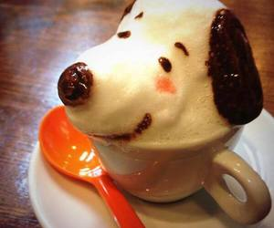 art, coffee, and dog image