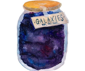 galaxy, jar, and art image