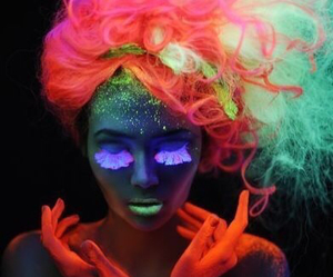 neon, colors, and makeup image