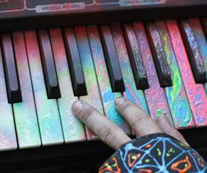 music, piano, and art image