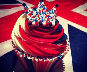 cupcake, blue, and red image
