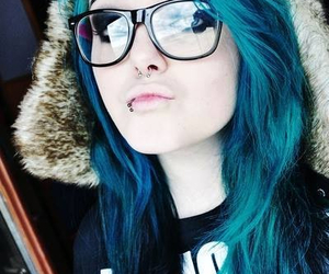 blue, girl, and emo image