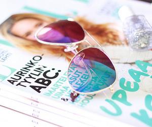 magazine, sunglasses, and summer image