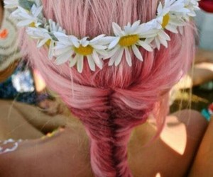 beauty, fishtail, and flower crown image