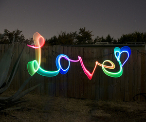 love, light, and heart image