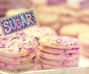 sugar, Cookies, and pink image