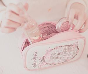 pink, makeup, and kawaii image