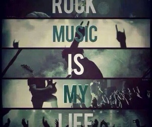 rock, music, and life image