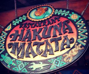 disney, hakuna matata, and restaurant image