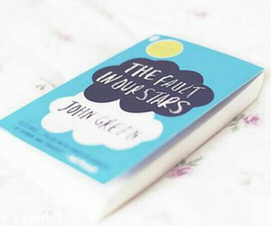 book, love, and the fault in our stars image