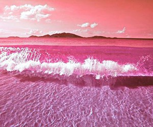 light, ocean, and pink image
