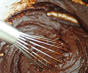 batter, chocolate, and frosting image