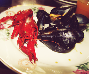 clams, crayfish, and food image