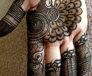 henna, design, and mehndi image