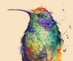 bird, art, and colors image