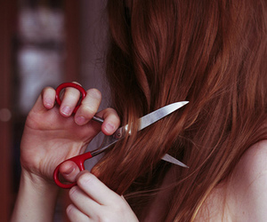 scissors and girl image