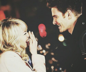 andrew garfield, couple, and emma stone image
