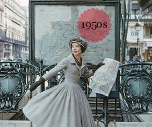 1950, in love, and 50's fashion image