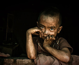 child, dirty, and hungry image